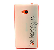 For Nokia Case Pattern Case Back Cover Case Word / Phrase Soft TPU Nokia Nokia Lumia 640