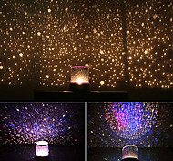 Starry Night Sky Projector Colorful LED Night Light (Powered by 3 AA Battery)