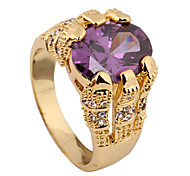 Size 10 High Quality Men Purple Sapphire Rings 10KT Yellow Gold Filled Ring