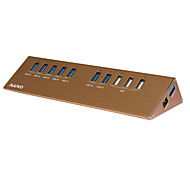 Maiwo USB3.0 USB Hub with 10port with 3 BC 1.2 Charging Port up to 2.4A KH110