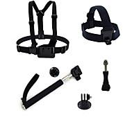 ourspop gp-K29 kit pour GoPro Hero 4 3 + / 3/2/1 caméra 5-en-1 accessoires