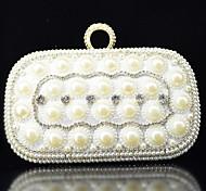 Handbag Crystal/ Rhinestone/Metal/Luxurious Satin Evening Handbags/Satchel With