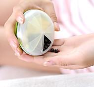 japan yamada 3 divide caso contenitore scatola di immagazzinaggio medicina kit portatile (colore casuale) rotante