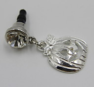 Fashion Alloy Halloween Silver Pumpkin Pendant Dust Plug General Type