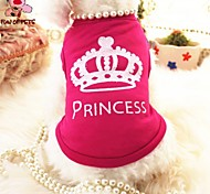 FUN OF PETS®Rose Princess Polyester Vest for Pets Dogs (Assorted Sizes)