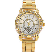 Women Watches Gold Watch Women Fashion Alloy Crystal Quartz Watch