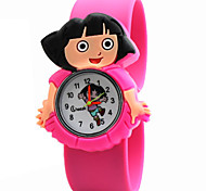 Children's Cute Cartoon Silicone Dora Pattern   Lovely Digital Quartz Slap Watch Cool Watches Unique Watches