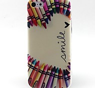 potlood hart patroon TPU materiaal zacht telefoon hoesje voor iPhone 5c