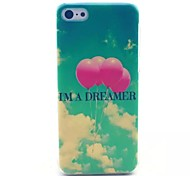 Balloon Pattern PC Material Phone Case for iPhone 5C