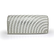 Handbag Faux Leather Evening Handbags/Clutches With Pearl