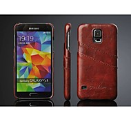 PU Leather Oil Wax Wave Back Case with Card Holder for Samsung Galaxy S5 I9600 (Assorted Color)