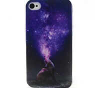stella del modello materiale TPU soft phone per iphone 4 / 4s
