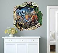 3D Virgin Forest Dinosaurs PVC Wall Sticker Wall Decals