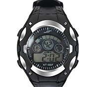 Mode Sport montre multifuntion alarme LED étanche noctiluques numériques montres-bracelets de l'étudiant (couleurs assorties)