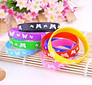 HUALUO®Colorful Butterfly Pattern Silicone Bracelets(Random Color)
