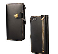 For iPhone 5 Case Pattern Case Full Body Case Solid Color Hard Genuine Leather iPhone SE/5s/5