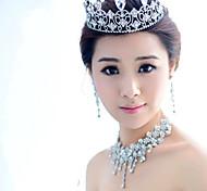 Korean Bride Diamond Crown Alloy Drop Hair Accessories Wholesale