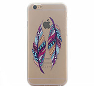 Fashion Design COCO FUN® Two Feather Pattern Hard PC Back Case Cover for iPhone 6 Plus