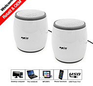 USB2.0 Speaker One Set 2in1 for Notebook Computer Speaker 3D Stereo Surround Sound Plug and Play Perfect Voice Speakers