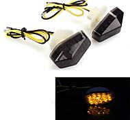 motocicleta 12 LED de señal de giro de la lámpara indicador luminoso intermitente trasero para kawasaki (2 piezas)