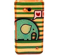 Für Nokia Hülle Muster Hülle Rückseitenabdeckung Hülle Elefant Weich TPU Nokia Nokia Lumia 640