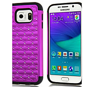 PC + Silicon All over the Sky Stars Diamond Back cover case capa para For Samsung S6 G9200(Aorted Color)