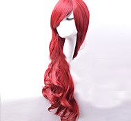 Japan and South Korea High Quality Fashion Red Curly Hair Wig