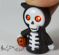 LED Grim Reaper Keychain Flashlight Sound Light Key Ring (Random Color)