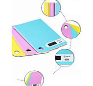 Peso balanza digital de ultra cocina 13mm delgada alta precisión 5kg 1g (color al azar)