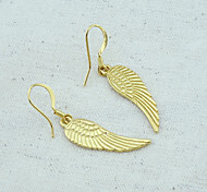 18K Gold Plated Angel Wings Earrings