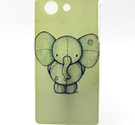 modello elefante materiale TPU soft phone per sony z3 mini