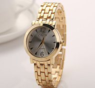 Woman Watches Geneva Women 2015 New Alloy Steel Quartz Watches Men Gold Watch Brand Analog Watches Top Quality