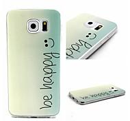 Voor Samsung Galaxy hoesje Patroon hoesje Achterkantje hoesje Woord / tekst TPU SamsungS6 edge / S6 / S5 Mini / S5 / S4 Mini / S3 Mini /