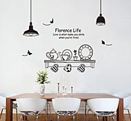 стены стикеры стены стикеры наклейки стиль модной черно-белый набор чая ПВХ стены