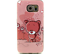 For Samsung Galaxy Case Pattern Case Back Cover Case Cartoon TPU Samsung S6 / S5