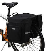 ROSWHEEL 30L Cycling Bicycle Bag Bike Double Side Rear Rack Tail Seat Bag Pannier Black