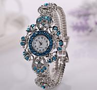 2015 donne della vigilanza di moda casual di vendita calda veste le vigilanze fiore braccialetto signore orologio da polso femminile