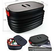 40L Car Storage Box Car Glove Box Car Folding Box Tool Box Storage Bag Folding Retractable Car Trash Bucket