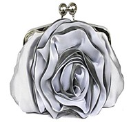 Women Silk Wedding Evening Bag White / Red / Silver / Black / Almond
