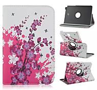 perzik bloesem patroon 360 graden roating full body case met standaard voor Samsung Galaxy Tab een 9,7 T550 / 8 T350