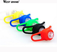 WEST BIKING® Durable Silicone Frog Lamp Bicycle Bike Riding Lights Blazing Lamp 5 Colors