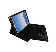 Назначение Чехлы панели со стендом с клавиатурой Флип Чехол Кейс для Сплошной цвет Твердый Искусственная кожа для iPad Air 2