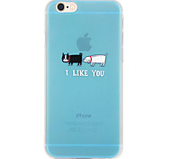 i like you patrón TPU caso suave para el iphone 6 / 6s