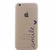 For iPhone 6 Case / iPhone 6 Plus Case Ultra-thin / Transparent / Pattern Case Back Cover Case Word / Phrase Hard PCiPhone 6s Plus/6 Plus
