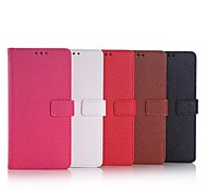 5.2 Inch Lichee Pattern Luxury PU Leather Wallet Case for Huawe P8 (Assorted Colors)