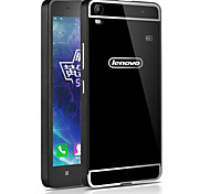 HHMM Metal Aluminum Frame Plastic back Cover mobile phone Cases For Lenovo S8 A7600 (Assorted Colors)