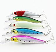 100mm 10g Bronzing  Minnow Bass Hard Bait Fishing Lure with 6# Hooks