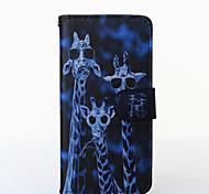 Für HTC Hülle Hüllen Cover Kreditkartenfächer Geldbeutel mit Halterung Flipbare Hülle Handyhülle für das ganze Handy Hülle Tier HartPU -