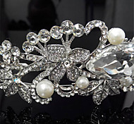 Romantic Little Swan Sparkling Crystal Pearl Flower Crown Headdress Pearl Tiaras Wedding/Party 1pc