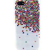 Fashion Design COCO FUN® Painted Dot Pattern Soft TPU IMD Back Case Cover for iPhone 5/5S
